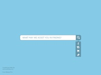 Search Bar Freebie entypo seth ely rebound blue search form minimalist white flat maven pro