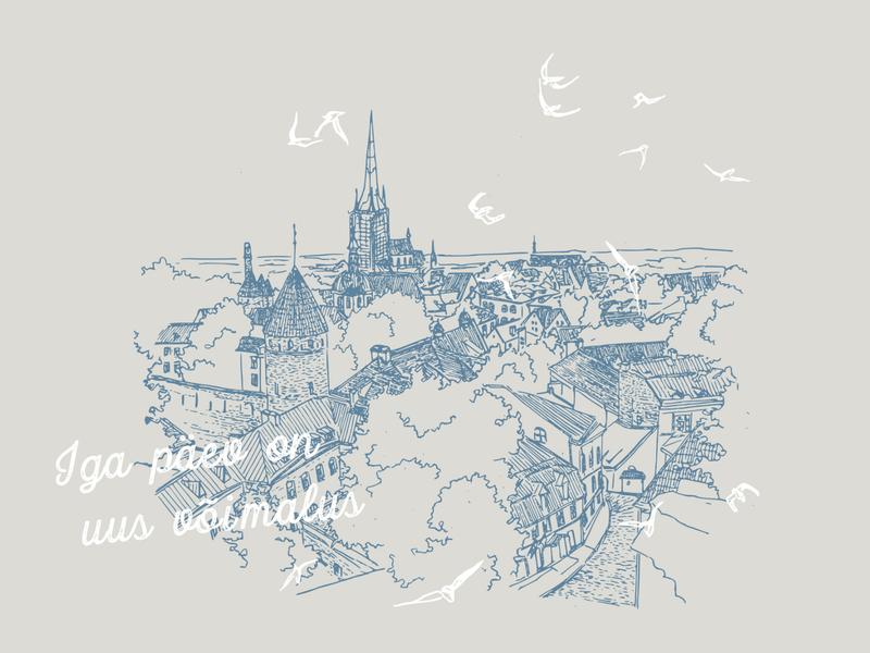 estonia | illustration city illustration cityscape design illustration