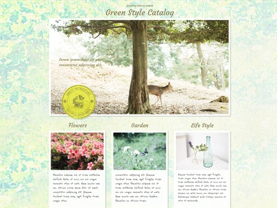 Template design for Sparkle green web