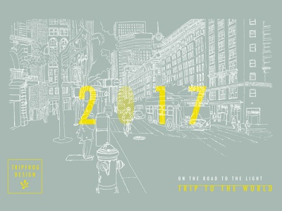 Greeting Card 2017 illustration graphic postcard