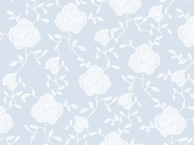 Hand-drawn roses lace lace rose pattern
