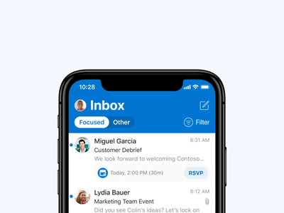 🚘 Play My Emails in Outlook for iOS ui ux mobile microsoft animation outlook cortana calendar email product design voice ai design