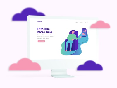 Lineful - Airport Travelers ux research user experience flight line illustration ux  ui airport