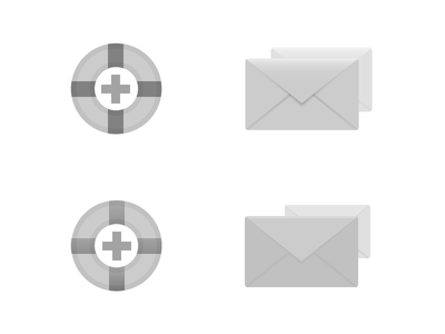 Support illustrator flat icons envelope email support light