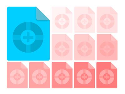 Files flat illustrator people files icons