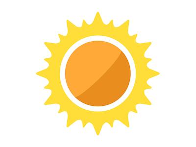 Sun illustrator flat sun planets