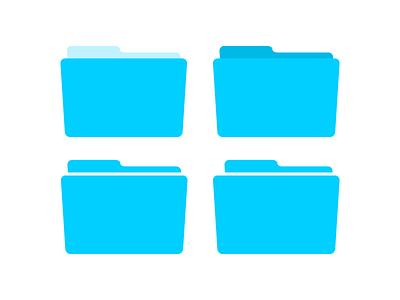 Folders illustrator flat icons folder