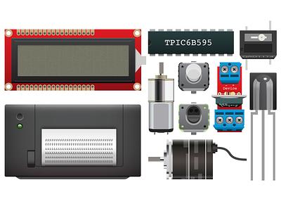 Parts illustrator bildr electronics shiny retina