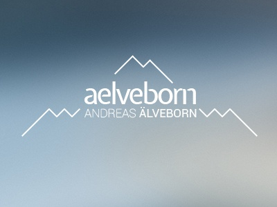 My personal logo logo personal logotype mountain brand