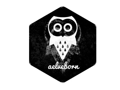 aelveborn owl black and white stamp icon logo logotype design aelveborn art owl