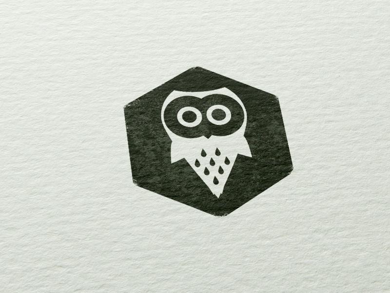 Dribbble owl stamp