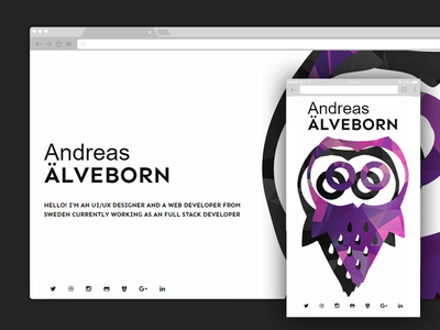 Single page website responsive spa owl portfolio website