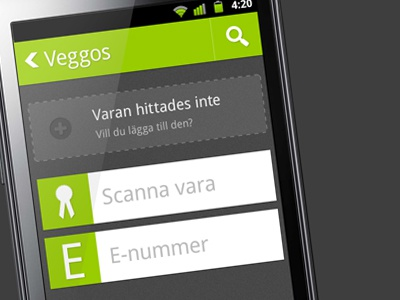 Android UI android ui veggos app application button