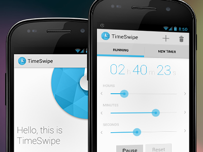 TimeSwipe Android App timeswipe android clock timer
