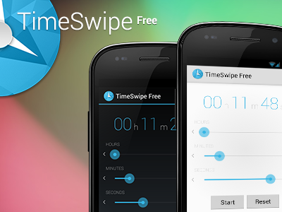 TimeSwipe Free Android app android timeswipe app clock timer countdown stopwatch free google