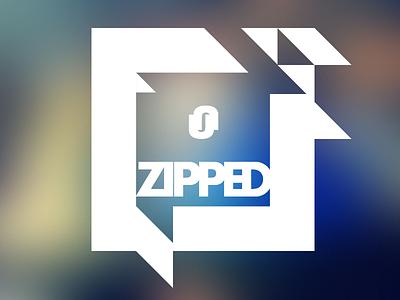 unzipped logo logo icon logotype blur