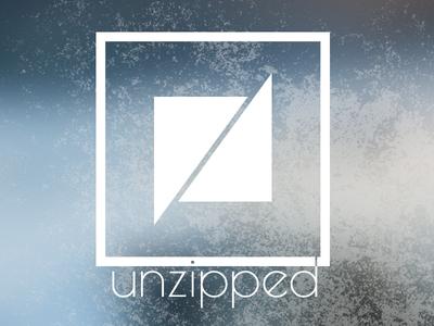 Unzipped Labs logo icon logotype blur grunge