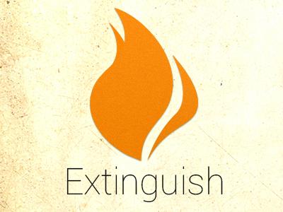 Extinguish Logo logo android flame extinguish app roboto