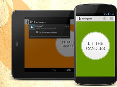 Extinguish Android app android app reminder extinguish tablet nexus notification