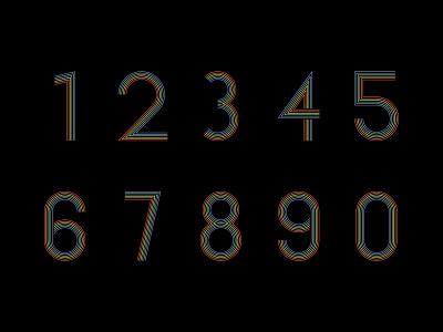 Countdown Numbering pride branding illustration