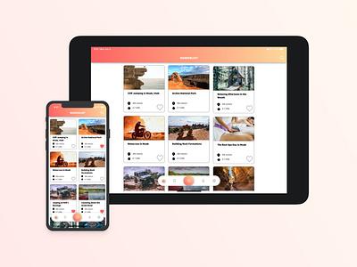 Wanderlust App Concept app design ios mobile branding ux ui