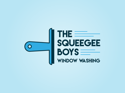 The Squeegee Boys local identity logo branding
