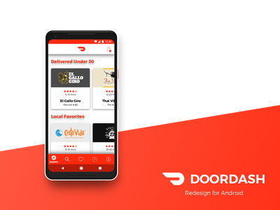 DoorDash Redesign android mobile ui visual redesign