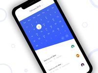 Mobile - Calendar UI