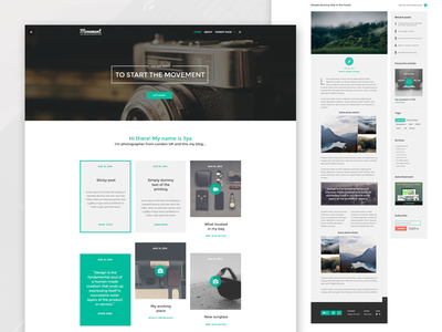 Movement - Personal Blog WordPress Theme