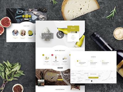 Camembert store blog restaurant ui ux camembert theme wine cheese
