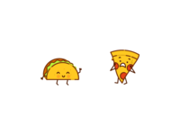 Taco and Pizza