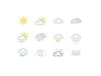 Weather Icons - Colored