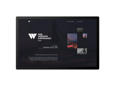 Landing page for Web Weekend KTM - 2018