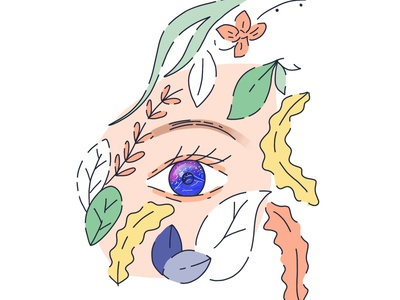 Inktober 2019 - Day 7 - Enchanted flat minimal design icon illustration vector