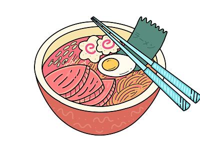 Spicy Ramen Bowl web minimal design icon illustration vector