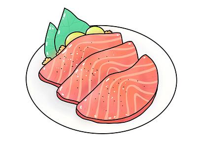 Sashimi digitalart food sashimi design icon illustration vector