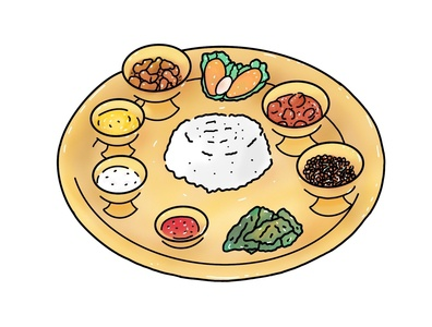 Nepali Khana Set nepal icon design nepali food illustration vector