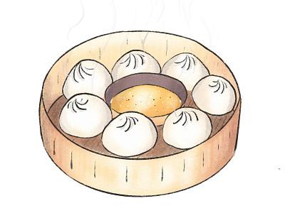 Momos - The Best Nepali Dumplings procreate animation nepal food icon illustration vector