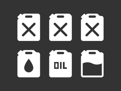 Plastic Gas Container Icons icon