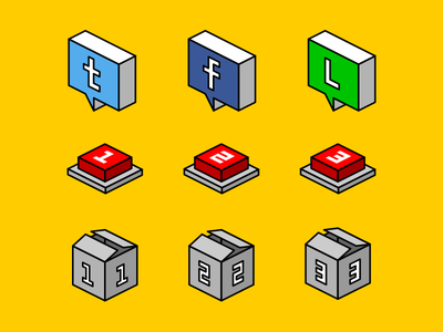2.5D Buttons icon
