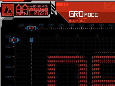 AA Generator #1 interface