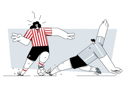 Cracovia ball football soccer 2d art design flat vector characterdesign illustration