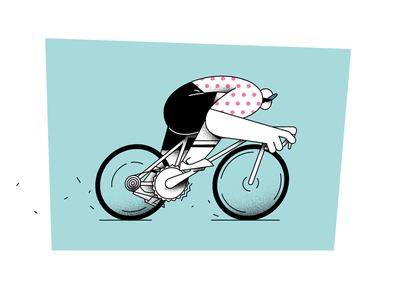 cycling 2d art 2d design flat vector cartoon illustration