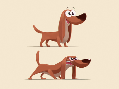 dachshund illustration dog digitalpainting dachshund characterdesign character cartoon