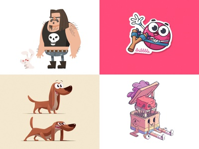 My2018 dog design flat vector character illustration cartoon characterdesign