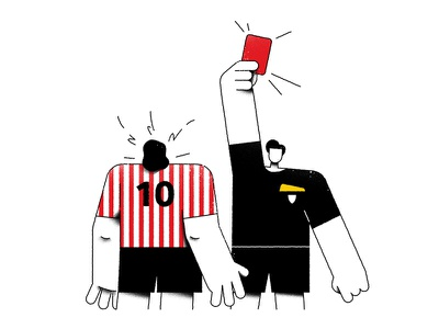 RedCard referee soccer football sport design flat character vector characterdesign cartoon illustration