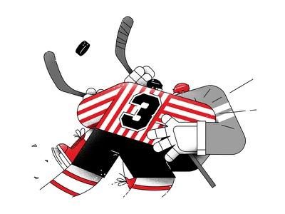 ice hockey foul 2d art icehockey hockey sport flat vector cartoon illustration
