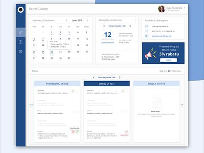 Diet caterings management - customer dashboard desktop app web ux ui