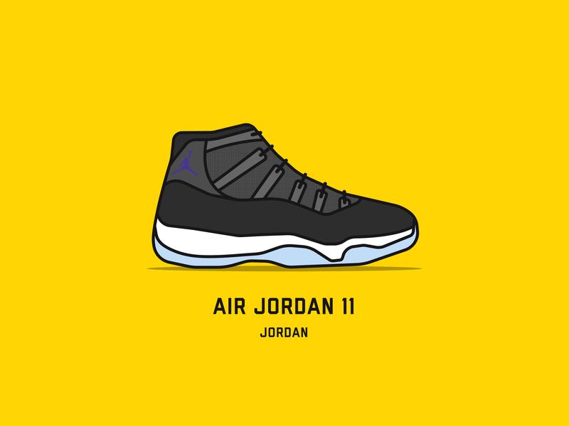 Top 10 NBA Sneakers icon illustrator clean street fashion michael jordan space jam nba sneakers basketball logo illustration vector minimal flat design