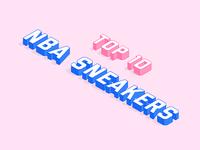 NBA Sneakers Typography